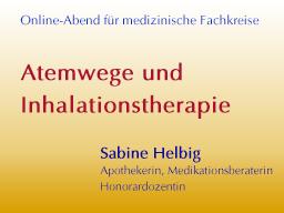 Webinar: Atemwege und Inhalationstherapie