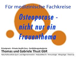 Webinar: Osteoporose - nicht nur ein Frauenthema